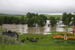 Nanton flooding