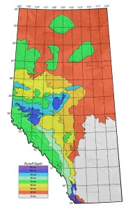 Alberta Transportation Runoff Depth Map