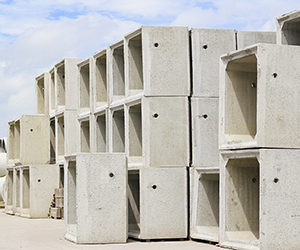 Concrete box culverts - stacked