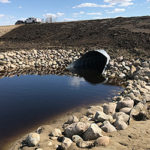 Culvert filled with water