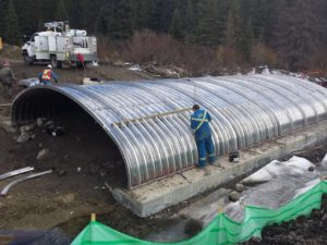 Etherington Creek aluminum box culvert