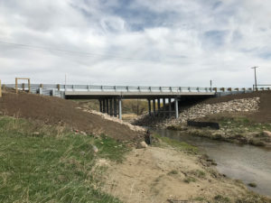 Bridge replacement, BF 70752, pothole creek in Cardston County