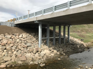 Cardston County bridge replacement on Pothole Creek