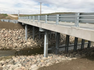 Cardston County, bridge replacement on Pothole Creek