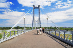 Cable stayed pedestrian bridge